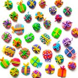 Many small gifts from plasticine Royalty Free Stock Photo