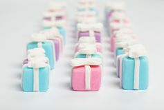 Many small gifts, sugar confectionery Stock Photography
