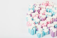 Many small gifts, sugar confectionery stock images