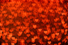 Many small glowing hearts. Many red small glowing hearts royalty free stock photo