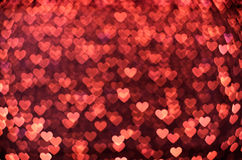 Many small glowing hearts. Many small red glowing hearts Royalty Free Stock Photos