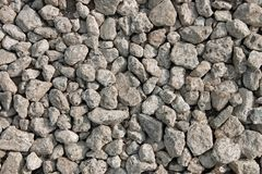 Many small grayish stones Royalty Free Stock Images