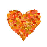 Many small hearts on white backgrounds. shape with clipping path vector illustration