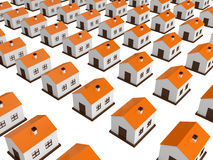 Many small houses Stock Photography