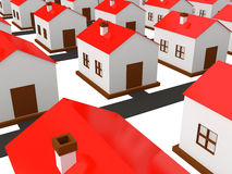 Many small houses Stock Image