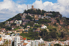 Many small houses on the mountain Royalty Free Stock Photography