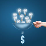 Many small ideas add up to a big dollars. Concept stock photography