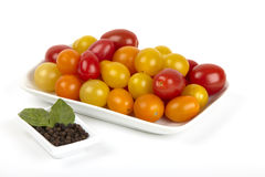 Many small organic tomatoes Royalty Free Stock Photography