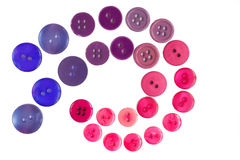 Many small original buttons. Many original buttons isolated on white background Stock Images