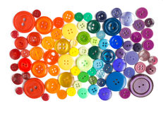 Many small original buttons. Many original buttons isolated on white background Royalty Free Stock Images
