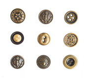 Many small original buttons Stock Photos