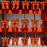 Many small red torii gates Stock Images