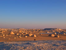 Many small rocks. In the White Desert - Lybian desert - Egypt Stock Image