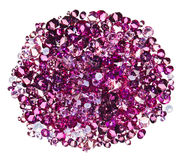 Many small ruby diamond (jewel) stones heap Royalty Free Stock Photos