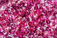 Many small ruby and diamond stones, luxury background stock image