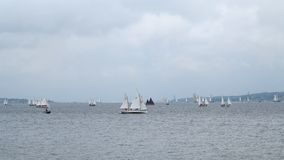 Many small sailboats - kiel - germany - baltic sea Stock Photos
