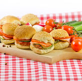 Many small sandwiches Royalty Free Stock Image