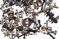 Many small screws Royalty Free Stock Photo