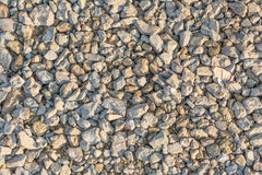 Many small stones of different colors, gravel or crushed stone close-up texture Stock Images