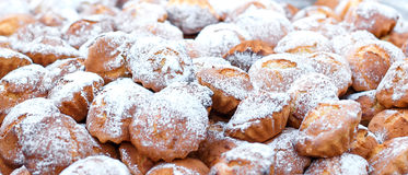 Many small sweet honey muffins Stock Images