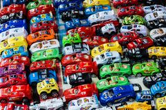 Many small toy cars Royalty Free Stock Photography