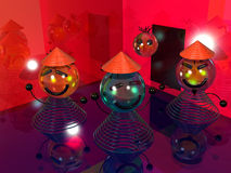 Many smile at the disco 3D Royalty Free Stock Photography