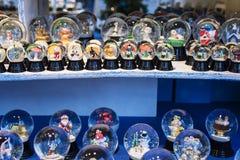 Many snow globes Royalty Free Stock Photos