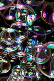 Many soap bubbles flying Stock Photography