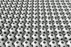 So many soccer balls, 3d illustration Stock Photos