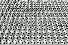 So many soccer balls, 3d illustration Royalty Free Stock Photos