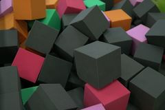 Many soft square cubes texture background Stock Photos
