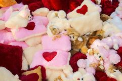 Many soft toys on sale. Many soft toys on display and sale at fair stock photos