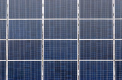 Many solar panel. Solar collectors are next to each other Royalty Free Stock Photography