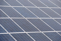 Many solar panel. During operation of solar collectors Stock Image