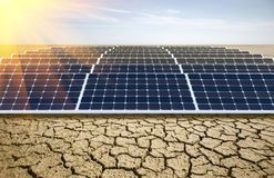 Many solar panels royalty free stock images