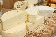 Many sorts of cheese royalty free stock photos