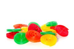Many sorts of colorful candy Royalty Free Stock Photos