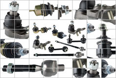 Many spare parts for chassis passenger car Royalty Free Stock Image