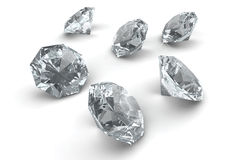 Many sparkling diamonds Stock Photos