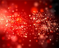 Free Many Sparks On The Red Blur Of The Background. Royalty Free Stock Photo - 63083175