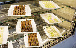 Many specie of candy in a pastry shop Royalty Free Stock Photography