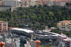 Many Spectators watch the F1 Monaco Grand Prix 2016 Royalty Free Stock Images
