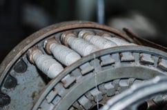 many spindles on machine Stock Photo