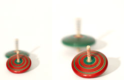 Many spinning top Royalty Free Stock Photography