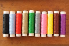 Many spools of thread Stock Image