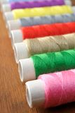 Many spools of thread Stock Photo