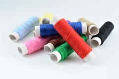 Many spools of thread Royalty Free Stock Photos