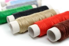Many spools of thread Stock Photography