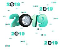 Many Sport Wheel 2019 Designs with many Wheels. On a White Background Stock Photos