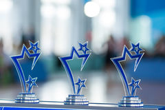 Many sports awards in Line on Kinezis Cup 2016 in Minsk. Republic of Belarus Royalty Free Stock Photography